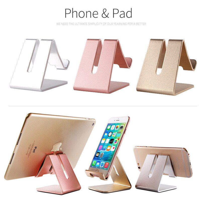 ESVNE Aluminum Metal Mobile Phone Holder For iPhone 6 7 Xiaomi iPad Desk Stand Support tablette for cellular phone no car Porta