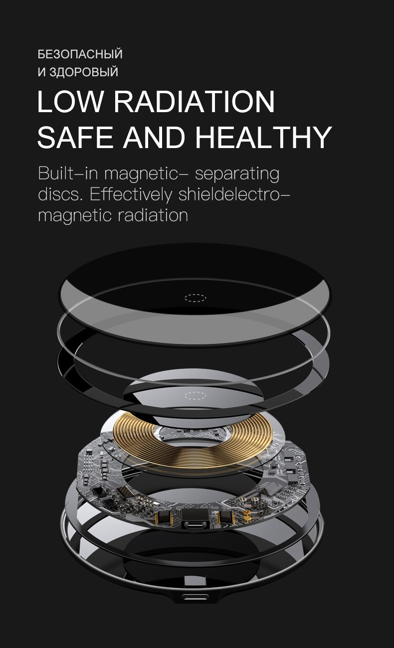 30W Qi Wireless Charger For iPhone 12 11 Pro Xs Max Mini X Xr 8 Induction Fast Wireless Charging Pad For Samsung s8 s9 s10 note